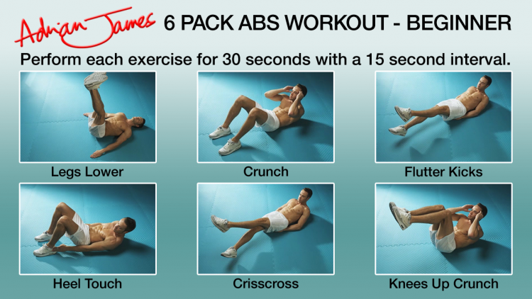 Download Adrian James 6 Pack Abs Workout And Put All 18 Exercises To The Test