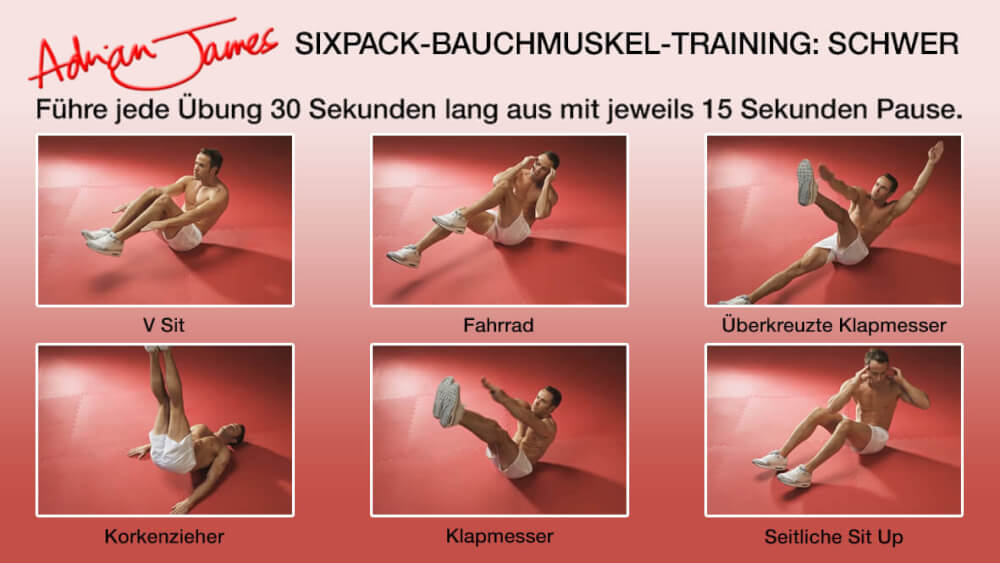 Das ultimative 15-Minuten Bauchmuskel-Training