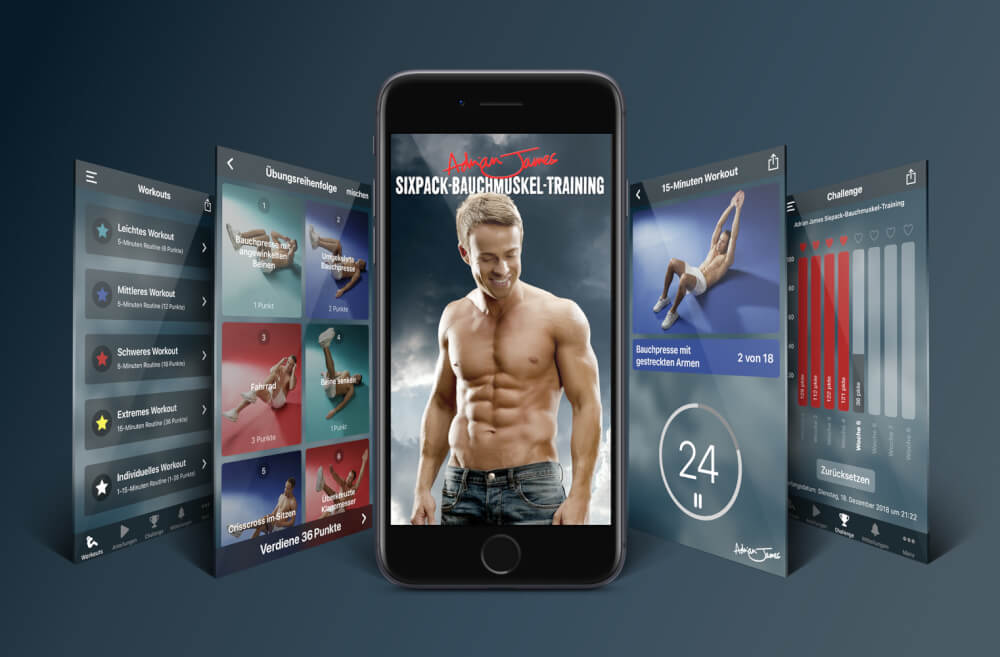 adrian james abs workout app
