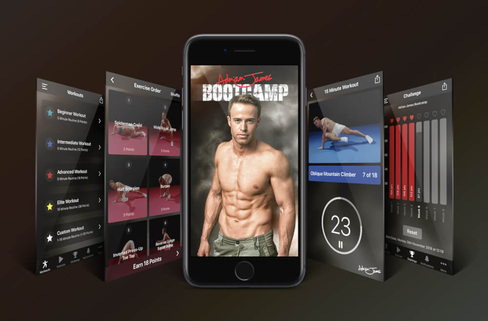 adrian james bootcamp app